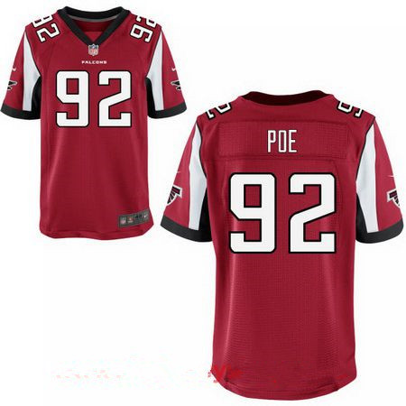 Men's Atlanta Falcons #92 Dontari Poe Red Team Color Stitched NFL Nike Elite Jersey