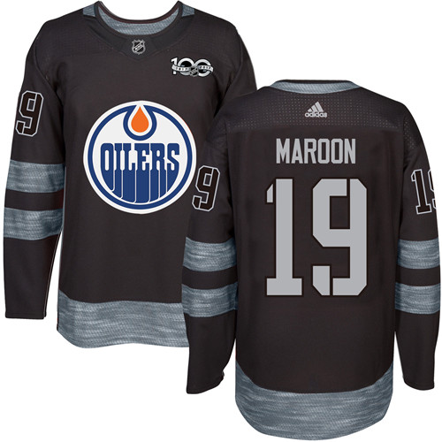 Oilers #19 Patrick Maroon Black 1917-2017 100th Anniversary Stitched NHL Jersey