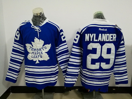 Men's Toronto Maple Leafs #29 William Nylander Blue 2014 Winter Classic Stitched NHL Reebok Hockey Jersey