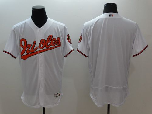 Men's Baltimore Orioles Blank White Flexbase Authentic Collection Stitched MLB Jersey