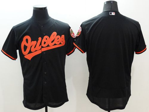 Men's Baltimore Orioles Blank Black Flexbase Authentic Collection Stitched MLB Jersey