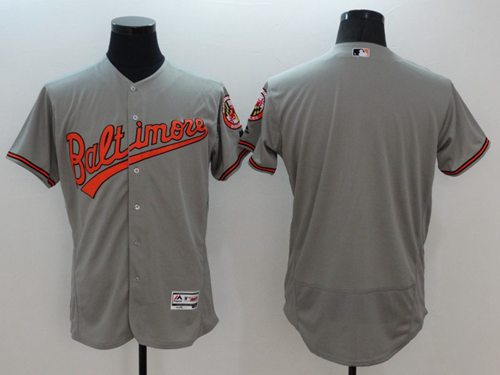 Men's Baltimore Orioles Blank Grey Flexbase Authentic Collection Stitched MLB Jersey