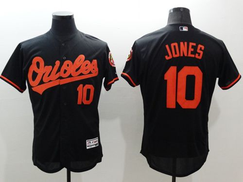 Men's Baltimore Orioles #10 Adam Jones Black Flexbase Authentic Collection Stitched MLB Jersey