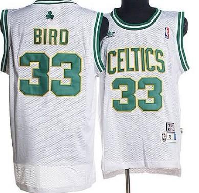 Boston Celtics #33 Larry Bird White Hardwood Classics Soul Swingman Throwback Jersey