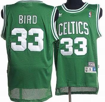 Boston Celtics #33 Larry Bird Green Hardwood Classics Soul Swingman Throwback Jersey