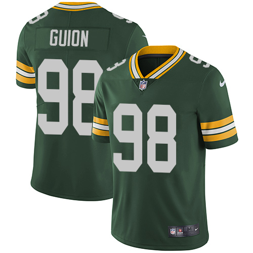 Nike Green Bay Packers #98 Letroy Guion Green Team Color Men's Stitched NFL Vapor Untouchable Limited Jersey