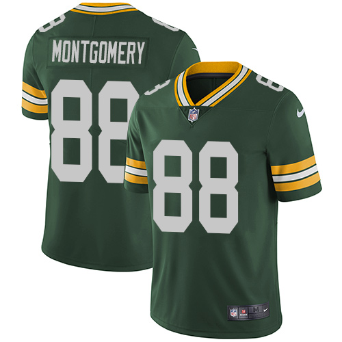 Nike Green Bay Packers #88 Ty Montgomery Green Team Color Men's Stitched NFL Vapor Untouchable Limited Jersey