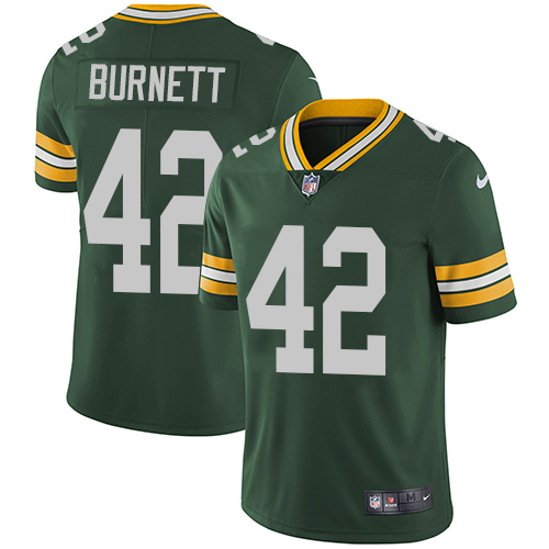 Nike Green Bay Packers #42 Morgan Burnett Green Team Color Men's Stitched NFL Vapor Untouchable Limited Jersey