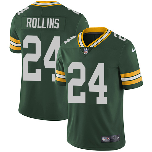 Nike Green Bay Packers #24 Quinten Rollins Green Team Color Men's Stitched NFL Vapor Untouchable Limited Jersey