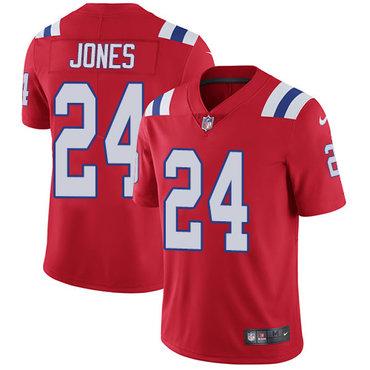 Nike New England Patriots #24 Cyrus Jones Red Alternate Men's Stitched NFL Vapor Untouchable Limited Jersey