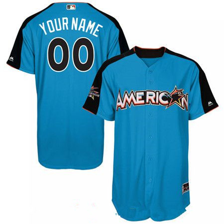 Men's American League Majestic Blue Blank 2017 MLB All-Star Futures Game Authentic On-Field Jersey