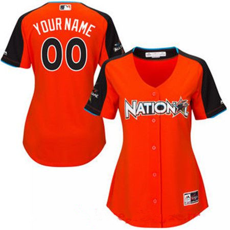 Women's National League Majestic Orange Blank 2017 MLB All-Star Game Home Run Derby Team Jersey