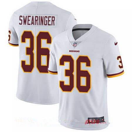 Youth Washington Redskins #36 D.J. Swearinger White Road Stitched NFL Nike Game Jersey