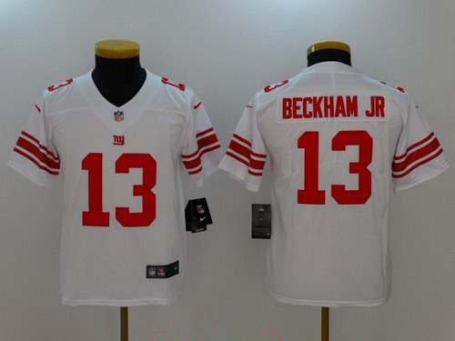 Youth New York Giants #13 Odell Beckham Jr White 2017 Vapor Untouchable Stitched NFL Nike Limited Jersey