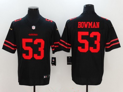 Youth San Francisco 49ers #53 NaVorro Bowman Black 2017 Vapor Untouchable Stitched NFL Nike Limited Jersey