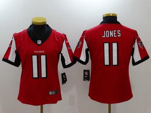 Women's Atlanta Falcons #11 Julio Jones Red 2017 Vapor Untouchable Stitched NFL Nike Limited Jersey