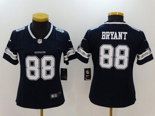 Women's Dallas Cowboys #88 Dez Bryant Navy Blue 2017 Vapor Untouchable Stitched NFL Nike Limited Jersey