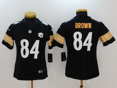 Women's Pittsburgh Steelers #84 Antonio Brown Black 2017 Vapor Untouchable Stitched NFL Nike Limited Jersey