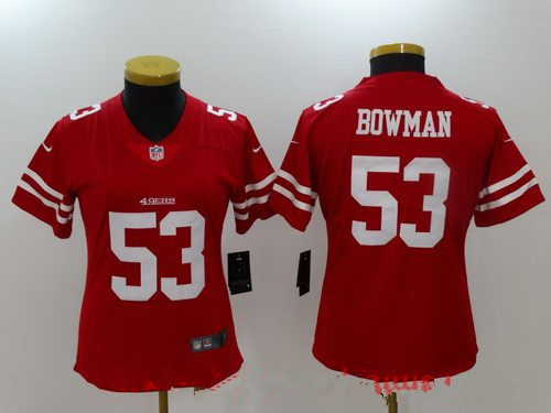 Women's San Francisco 49ers #53 NaVorro Bowman Red 2017 Vapor Untouchable Stitched NFL Nike Limited Jersey