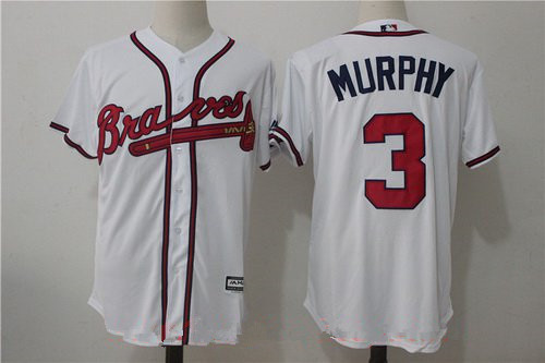 Men's Atlanta Braves #3 Dale Murphy Retired White Home Home Stitched MLB Majestic Cool Base Jersey