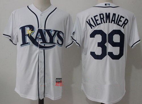 Men's Tampa Bay Rays #39 Kevin Kiermaier White Home Stitched MLB Majestic Cool Base Jersey