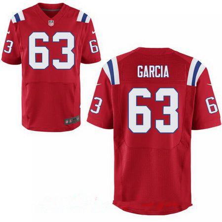 Men's 2017 NFL Draft New England Patriots #63 Antonio Garcia Red Alternate Stitched NFL Nike Elite Jersey