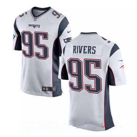 Men's 2017 NFL Draft New England Patriots #95 Derek Rivers White Road Stitched NFL Nike Elite Jersey