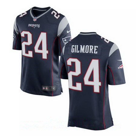 Men's New England Patriots #24 Stephon Gilmore Navy Blue Team Color Stitched NFL Nike Elite Jersey