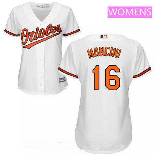 Women's Baltimore Orioles #16 Trey Mancini White Home Stitched MLB Majestic Cool Base Jersey