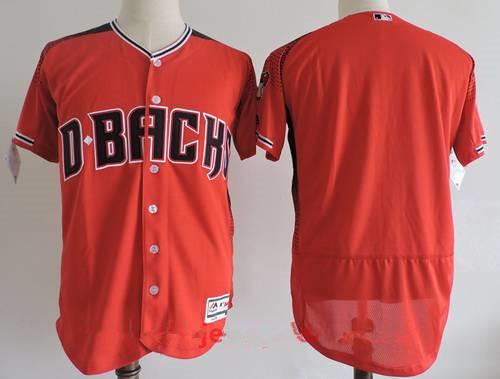 Men's Arizona Diamondbacks Blank 2017 Red Stitched MLB Majestic Flex Base Jersey