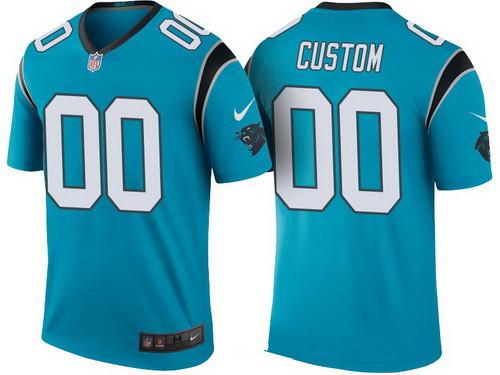 Men's Carolina Panthers Blue Custom Color Rush Legend NFL Nike Limited Jersey