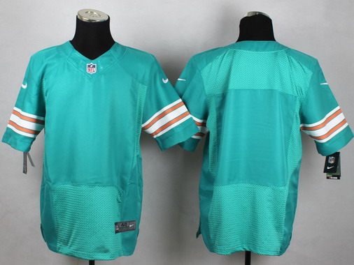 Men's Miami Dolphins Customized Aqua Green Alternate 2015 NFL Nike Elite Jersey