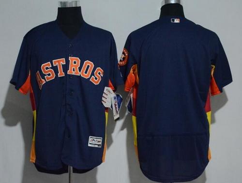 Men's Houston Astros Navy Blue Stitched MLB Majestic Flex Base Jersey