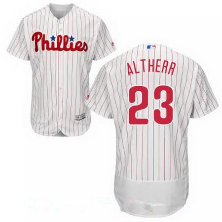 Men's Philadelphia Phillies #23 Aaron Altherr White Home Stitched MLB Majestic Flex Base Jersey