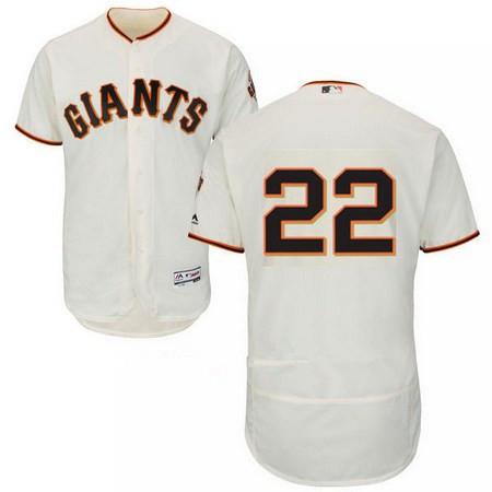 Men's San Francisco Giants #22 Christian Arroyo No Name Cream Home Stitched MLB Majestic Flex Base Jersey