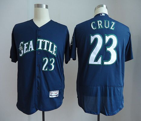 Men's Seattle Mariners #22 Robinson Cano Navy Blue Stitched MLB Majestic Flex Base Jersey