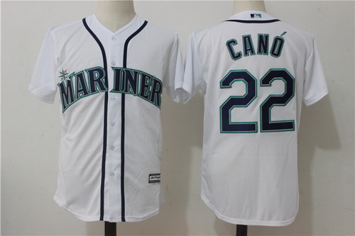 Men's Seattle Mariners #22 Robinson Cano White Home Stitched MLB Majestic Cool Base Jersey
