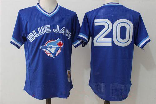 Men's Toronto Blue Jays #20 Josh Donaldson Royal Blue Throwback Mesh Batting Practice Stitched MLB Mitchell & Ness Jersey