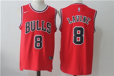 Chicago Bulls 8 Zach LaVine Red Nike Stitched Jersey
