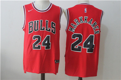 Chicago Bulls 24 Lauri Markkanen Red Nike Stitched Jersey