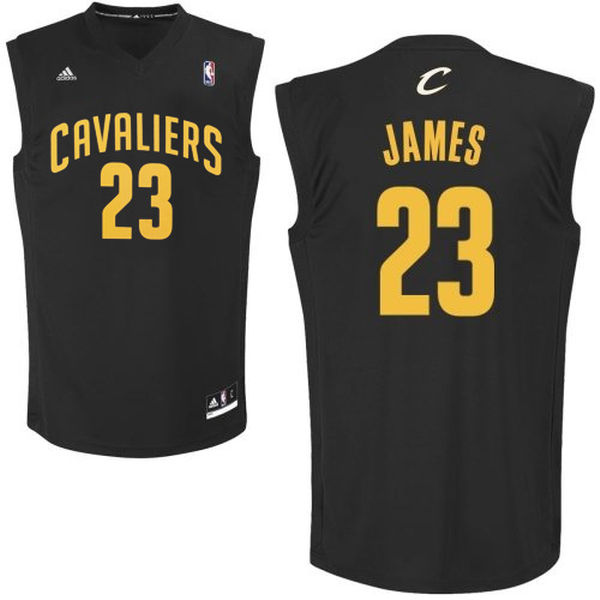 Cleveland Cavaliers #23 LeBron James Black Fashion Replica Jersey