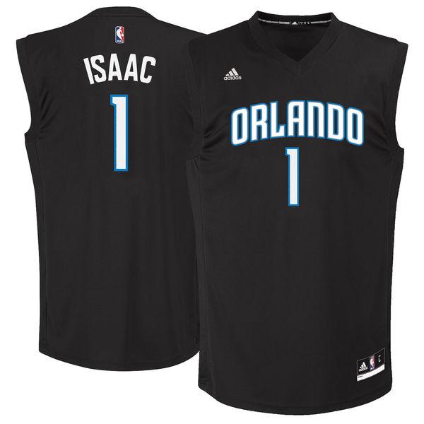 Orlando Magic #1 Jonathan Isaac Black 2017 NBA Draft Pick Replica Jersey