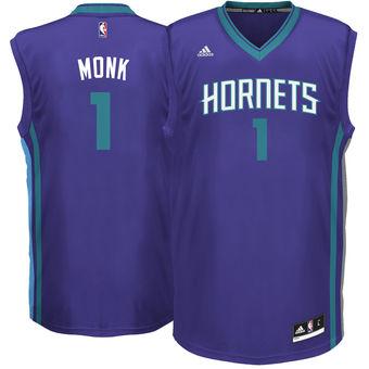 Men's Charlotte Hornets #1 Malik Monk adidas Purple 2017 NBA Draft Pick Replica Jersey