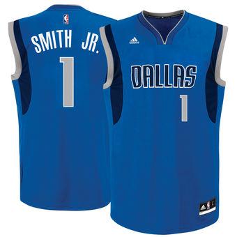 Men's Dallas Mavericks #1 Dennis Smith Jr. adidas Blue 2017 NBA Draft Pick Replica Jersey