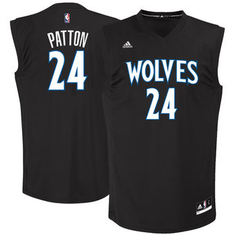 Men's Minnesota Timberwolves #24  Justin Patton adidas Black 2017 NBA Draft Pick Replica Jersey