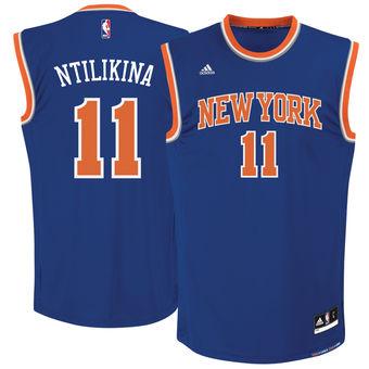 Men's New York Knicks #11 Frank Ntilikina adidas Royal 2017 NBA Draft Pick Replica Jersey