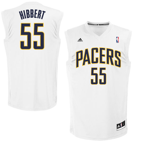 Indiana Pacers 55 Roy Hibbert White Fashion Replica Jersey
