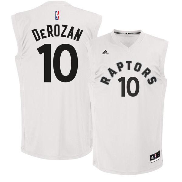 Toronto Raptors 10 DeMar DeRozan White Fashion Replica Jersey