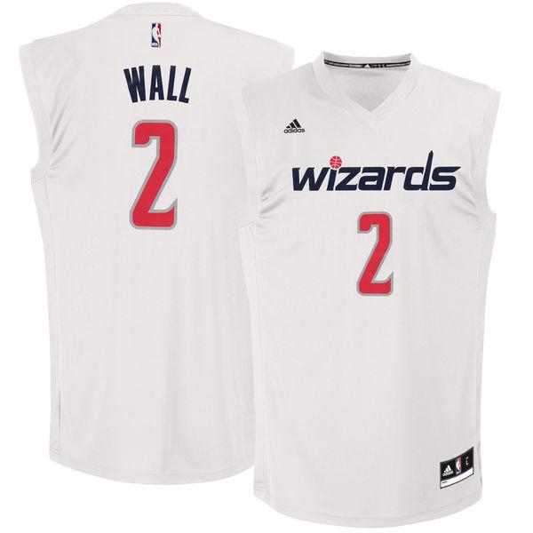 Washington Wizards 2 John Wall White Chase Fashion Replica Jersey