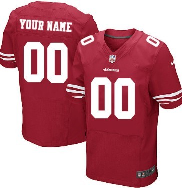 Youth Nike San Francisco 49ers Customized Red Elite Jersey